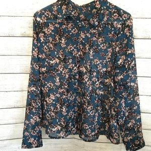 DYNAMITE Semi Sheer Floral Blouse 🌟Host Pick🌟